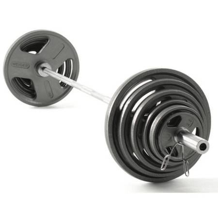 Photo NEW 300 lbs Weight Set with Olympic Barbell in box - $480 (Kokomo)