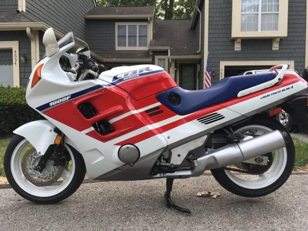 Photo RARE 1990 HONDA CBR 1000 1000F 1000F HURRICANE LOW 4,997 Miles - $7,500 (Indianapolis)