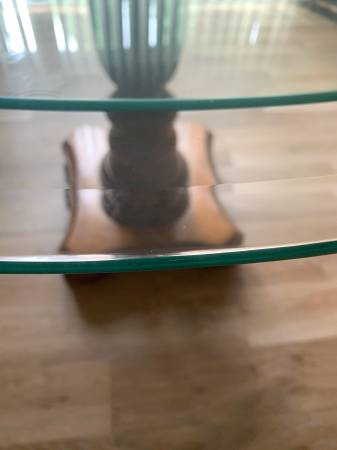 Photo Round GLASS Table TOP - $50 (Gas City)