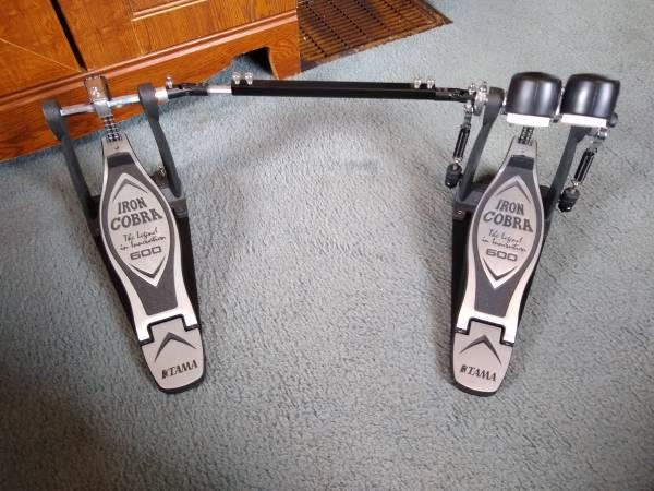 Photo TAMA Iron Cobra Double Bass Drum Pedal - $175 (Indianapolis)