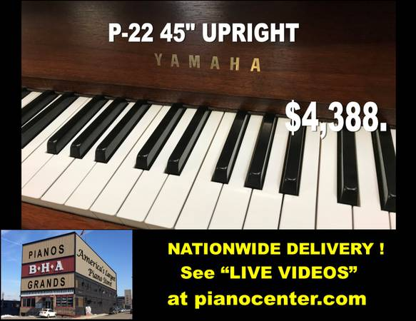 Photo YAMAHA P-22 45quot Upright quotCheck Out Our Videosquot (BHA Piano Center Dayton, OH)