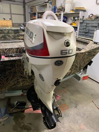 Photo 2014 tiller etec 60hp outboard with new pump - $5,000 (Pasco)