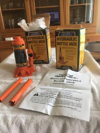 Photo (2) 4 Ton Hydraulic Heavy Duty Bottle Jacks - $30 (Benton City)