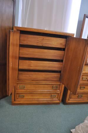 Photo Distressed Pecan Armoire Dresser $295 - $295