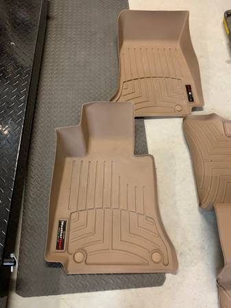 Photo Exc cond WeatherTech Fit Floorliners for 2015-2018 Mercedes C-300 sedan - $125 (Benton City)