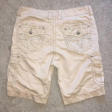 Photo Rock Revival Khaki Cargo Shorts Size 34 - $50 (Connell)