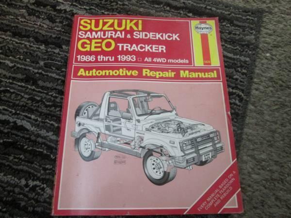 Photo Suzuki Samuri Geo Sidekick Tracker Haynes Manual 86-93 - $15 (West Pasco)