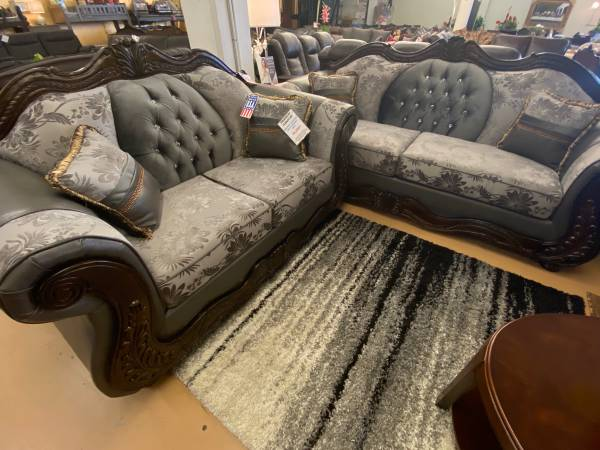 Photo Victorian style gray sofa and loveseat - $1,599 (Pasco)