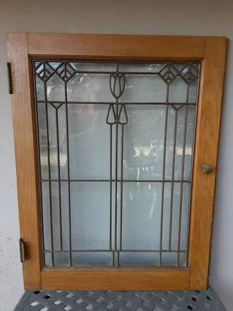 Photo AMAZING Antique Lead Glass.Stickley Mission Craftsman Arts Crafts Era - $250 (All 4 For 250. Stickley Style Knobs Too. Merriam, ks)
