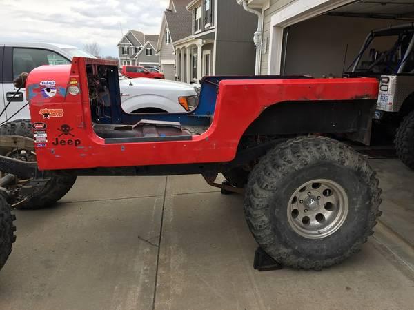 Photo Jeep CJ7 tub  frame for sale - $200 (Kansas City)