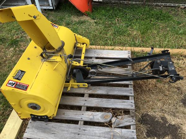Photo John Deere snowblower and wheel weights - $375