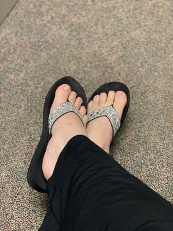 Photo Well Worn Flip Flops (Fort Riley)