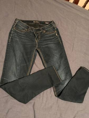 Photo Womans Silver Jeans - $10 (Manhattan)