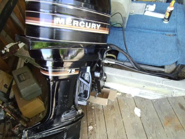 Photo 1739 polar craft V flat, 75 merc, trailer - $2,950 (LaCrosse wisc)