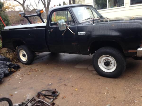 Photo 1979 Dodge Powerwagon w200 - $2800 (Goodview)