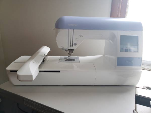 Photo Brother PE770 Embroidery Sewing Machine - $450