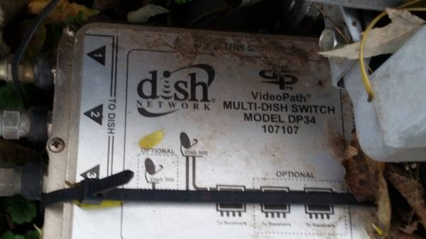 Photo DISH NETWORK DISH and DP34 box used, removed working, make an offer - $75 (Onalaska)