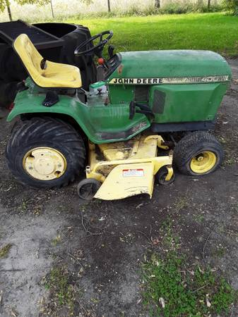 Photo John Deere 400 and attachments - $1,750 (Manchester)