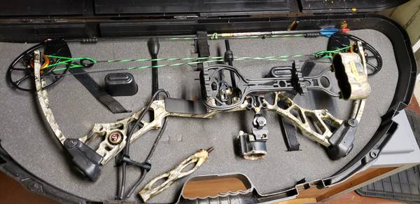 Photo Mathews mission ballistic compound bow - $350 (Wilton)