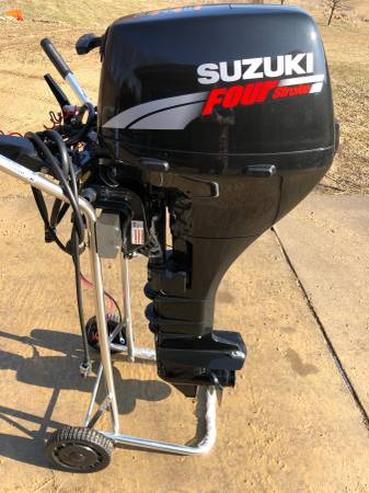 Photo Suzuki 9.9hp long shaft electric start tiller 4 stroke outboard - $1425