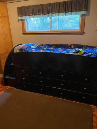 Photo Twin Loft Storage Bed - $500 (Sparta)