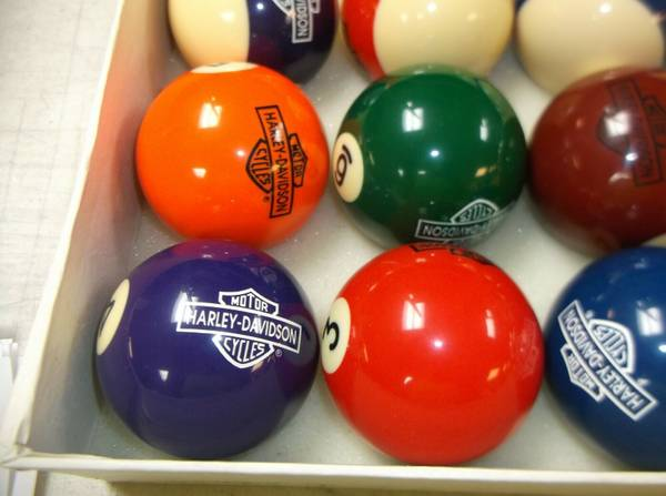 Photo Vintage Harley Davidson Pool Ball Set - $140 (Sparta)