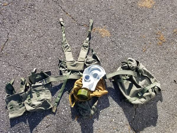 Photo Bulgarian Military Web Gear and a Russian GP-5 Gas Mask - $50 (LAFAYETTE)