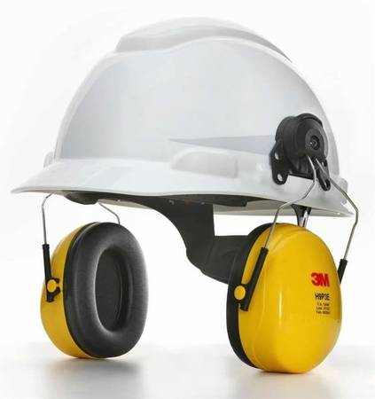 Photo Hard Hat w 3M PELTOR Safety Earmuffs Attached for Hearing Protection - $30 (New Orleans)