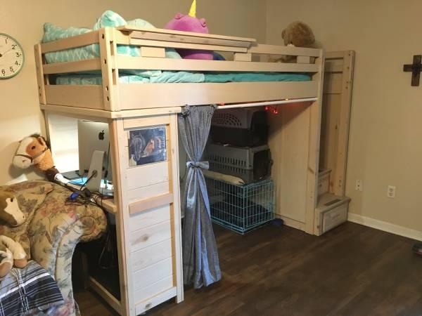 Photo Twin Stairway Loft Bed wdesk - $800 (Lafayette)