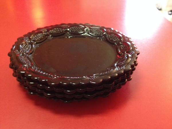 Photo Vintage Avon Cape Cod Ruby Red Saucers - $40 (crowley)
