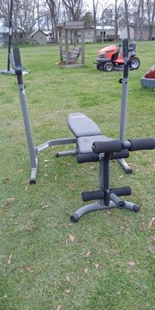 Photo Weight bench and squat rack - $125 (Carencro, La.)