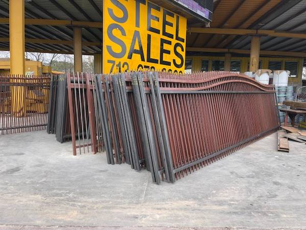 Photo 6x839 FENCE PANELGATE SALES STEEL METAL FENCING WROUGHT IRON FENCES (59 North Crosstimbers)