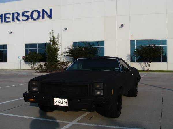 Photo EL CAMINO 1977 OLD SCHOOL BIG BODY MURDERED OUT - $5500 (Houston)