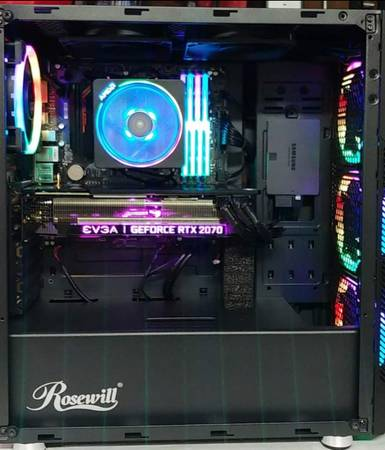 Photo RTX 2700  Ryzen7 2700X  32GB DDR4  1 TB SSD - $1,200 (La Marque)