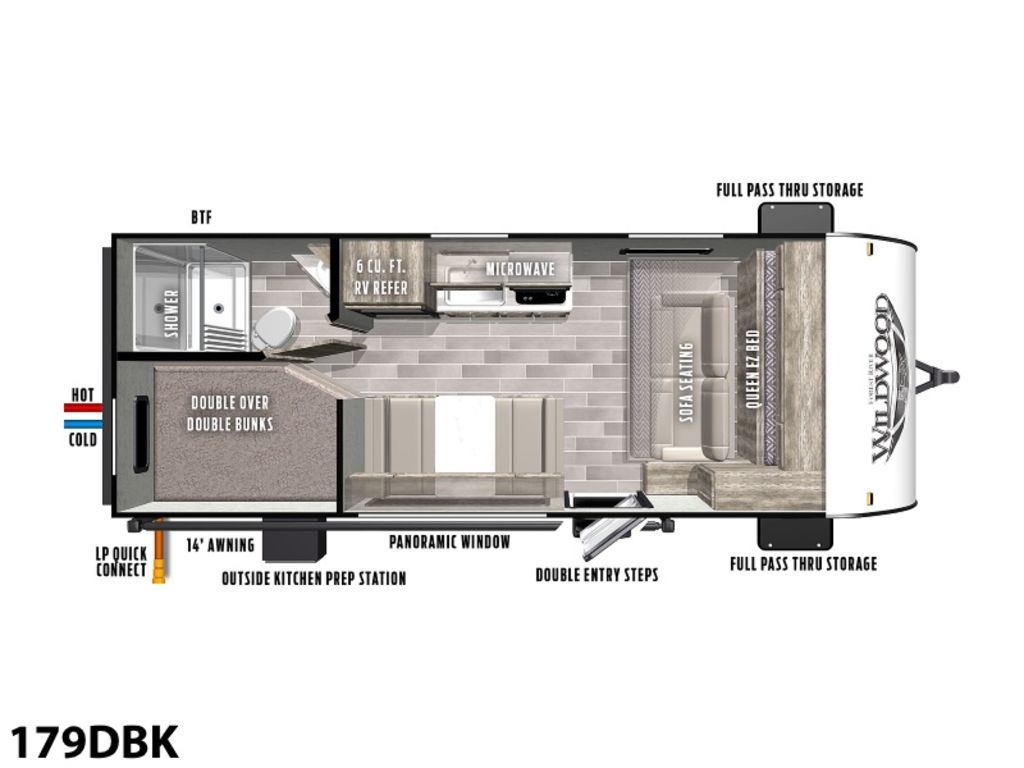 Photo 2020 Forest River Wildwood FSX Midwest 179DBK $24900