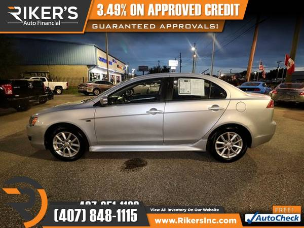 Photo $105mo - 2015 Mitsubishi Lancer ES - 100 Approved - $99 (Rikers Auto Financial)