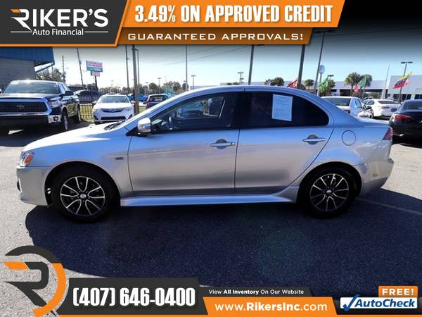 Photo $139mo - 2017 Mitsubishi Lancer ES - 100 Approved - $139 (Rikers Auto Financial)