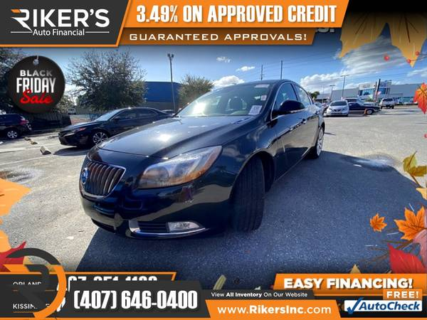 Photo $153mo - 2012 Buick Regal Premium III Turbo - 100 Approved - $153 (Rikers Auto Financial)