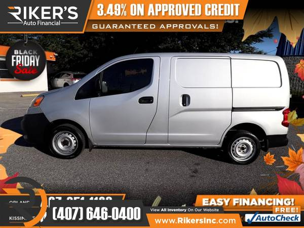 Photo $153mo - 2015 Nissan NV200 S Cargo Van - 100 Approved - $153 (Rikers Auto Financial)
