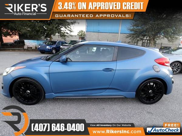 Photo $166mo - 2016 Hyundai Veloster Turbo Rally Edition - 100 Approved - $166 (Rikers Auto Financial)
