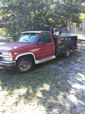 Photo 1995 Chevy 3500 Utility Tow - $4,200 (Lake City)