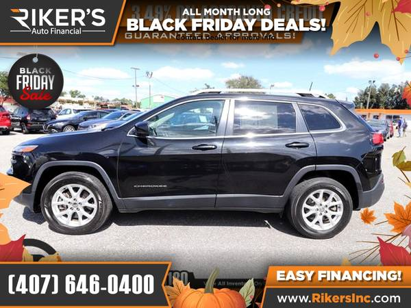 Photo $206mo - 2016 Jeep Cherokee Latitude - 100 Approved - $206 (Rikers Auto Financial)