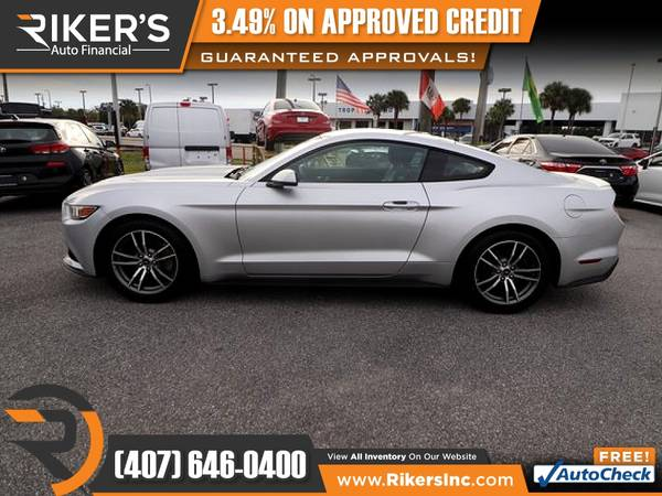 Photo $239mo - 2016 Ford Mustang EcoBoost Premium - 100 Approved - $239 (Rikers Auto Financial)