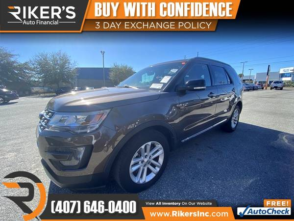 Photo $241mo - 2016 Ford Explorer XLT - 100 Approved - $241 (Rikers Auto Financial)