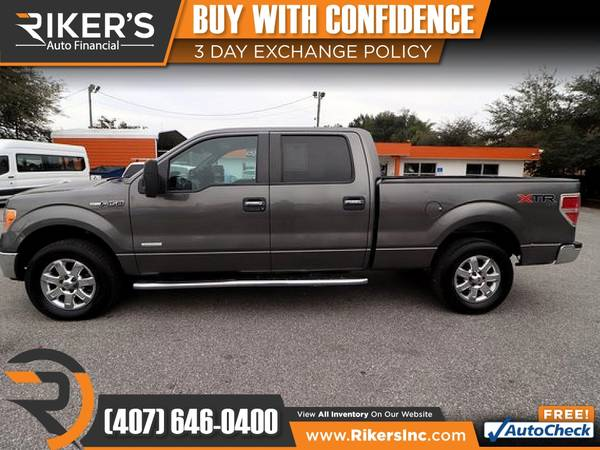 Photo $253mo - 2013 Ford F150 F 150 F-150 XLTCrew Cab - 100 Approved - $253 (Rikers Auto Financial)