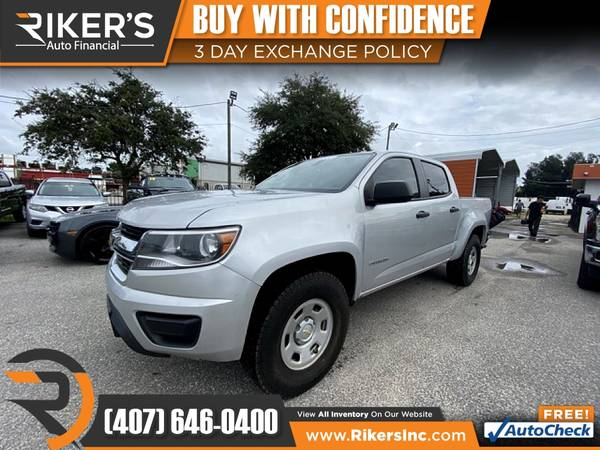 Photo $261mo - 2017 Chevrolet Colorado Work Truck Crew Cab - 100 Approved - $261 (Rikers Auto Financial)