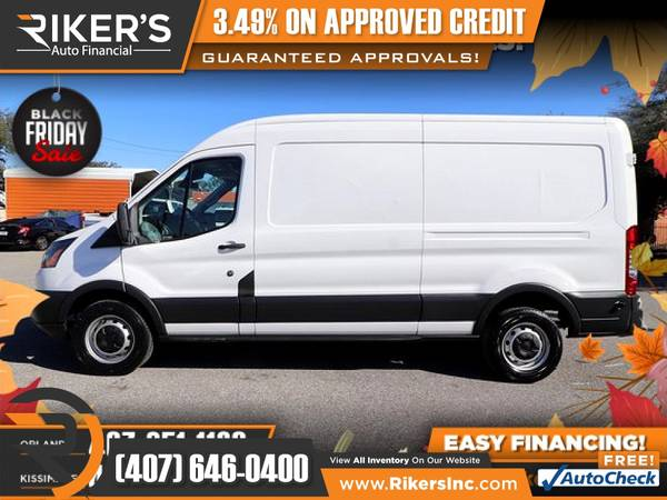 Photo $325mo - 2018 Ford Transit-250 Base Cargo Van - 100 Approved - $325 (Rikers Auto Financial)
