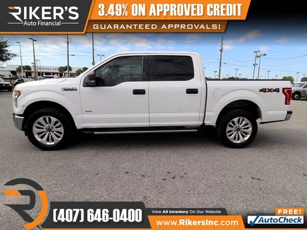 Photo $345mo - 2015 Ford F150 F 150 F-150 XLTCrew Cab - 100 Approved - $345 (Rikers Auto Financial)