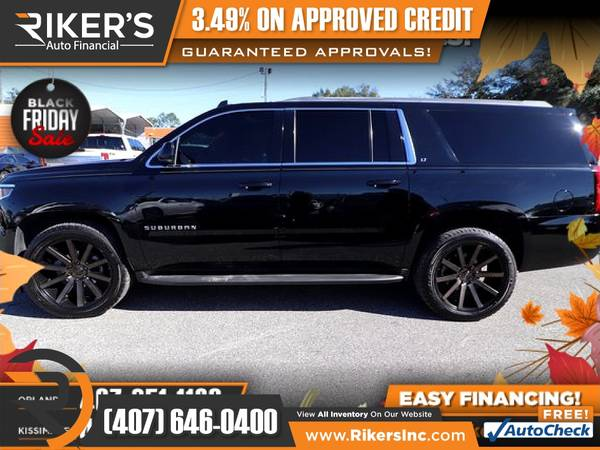 Photo $444mo - 2016 Chevrolet Suburban LT - 100 Approved - $444 (Rikers Auto Financial)