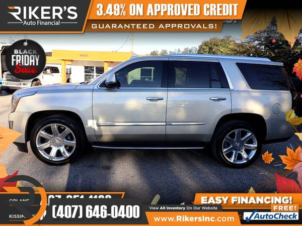 Photo $544mo - 2015 Cadillac Escalade Luxury - 100 Approved - $544 (Rikers Auto Financial)